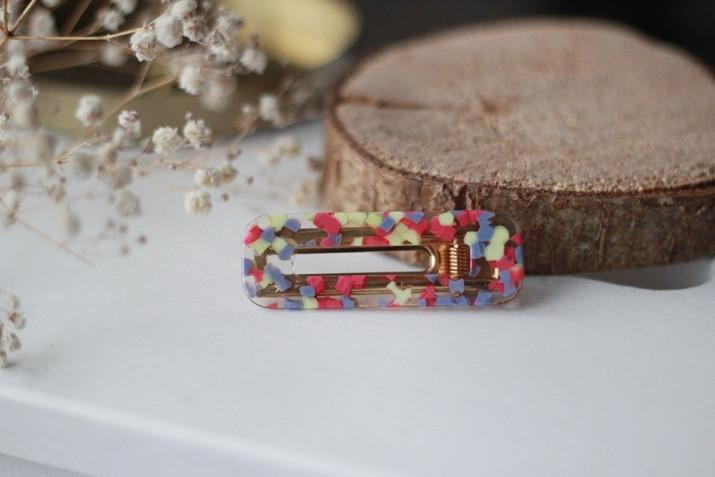 Barrette Anna Multicolore rose