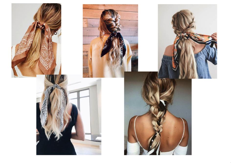 Coiffures foulards cheveux bohomane