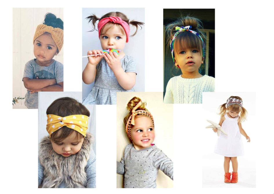 Coiffures headband enfants cheveux bohomane
