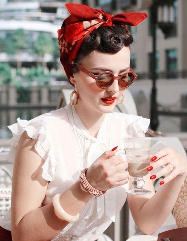 photo femme look rock n roll