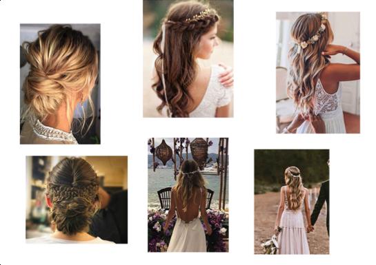 coiffure mariage bohème chic accessoires cheveux bohomane